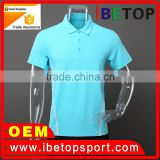 Wholesale Short Sleeve Polyester / Cotton fashion mens polo shirt custom t shit with OEM logo