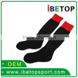 Black new style football sock custom 100%polyester soccer sports socks wholesale