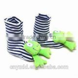 Soft Toy Head Babies' Booties with Rattle /baby animal socks