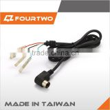 Taiwan MIT DC angle plug with strain relief and wire harness