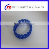 Hot fashion braided silicone bracelets