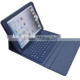 High quality bluetooth keyboard Synthetic leather case bluetooth keyboard for ipad2 and ipad3/ipad4