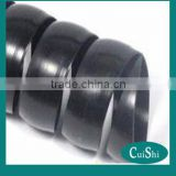 Black polypropylene spiral guard/wrap/protective sleeves/water hose/flexible cable plastic tube