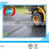 Temporary Protective Floor Coverings/portable roadways mats HDPE/HDPE ground protection track mat