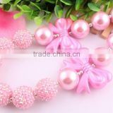 Top Quality DIY Handmade chunky bead necklace in bulk!Fashion charming Christmas chunky diy bead necklace for kids!