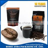 Gravure Printing Glossy Coffee Wrapper/Coffee Bean Packaging Bags/ Aluminum Foil Stand up Pouch for Drip Coffee Bag