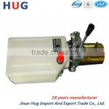 Car lifting hydraulic power unit with hand control valve