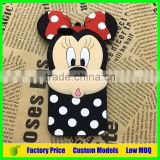 For disney design mickey custom silicone mobile 3d phone case for Iphone 6 cell phone back cover case