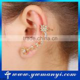 Rhinestone Jewelry Fashion Bridal Earrings Ear Cuff Jewelry E1284