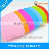 Colorful silicone coffee cup sleeve silicone rubber sleeve OEM acceptable                                                                         Quality Choice