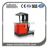 3.0T Seat Type Electric Reach Forklift /electric reach stacker / electric stacker                                                                         Quality Choice