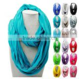 Infinity Loop Fashion Scarf, womens winter accessories, cozy jersey scarf, gift for spring