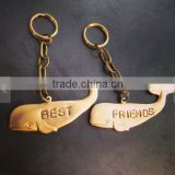 gold shark alloy keychains Best Friends Keychains
