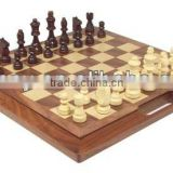 Standard UK Style Portable Natural Ebony And Maple Wood Giant Outdoor Chess Set