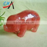 2inc quartz stone pigs& cherry quartz pigs