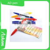 hot sell custom plastic pen ad banner pen free logo printing, DL853                                                                         Quality Choice