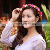 korean tire the bride adorn article The wreath headdress flower Cloth wholesale hair with hair accessories manufacturer