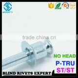 HIGH QUALITY DOUBLE CSK COUNTERSUNK STEEL BLIND P-T POP RIVETS FOR COMMUNICATIONS EQUIPMENT