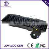 LED backlight usb wired gaming keyboard and mouse                                                                         Quality Choice