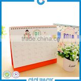 2016 China cheap wholesale custom table calendar printing design