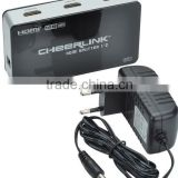 CHEERLINK 2 port 1080P/3D HDMI Splitter 1.4 connects to source such as DVD, Satellite, Cable Box, PC, PS3