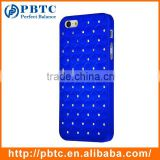 Set Screen Protector Stylus And Case For Iphone 5 , Hard Plastic Dark Blue Bling Diamond Guangzhou Mobile Phone Shell
