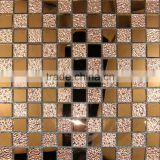 strip 5 beveled black mirror glass mosaic tile in stock