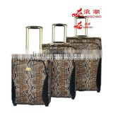 3pcs set trolley bag beauty snake skin