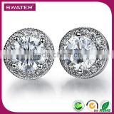 Gold Plated Jewelry Wholesale Sterling Silver Cz Stud Earrings