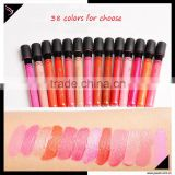 Chinese factory hot sale 38 colors liquid lipgloss cosmetics lip gloss matte branded lip gloss