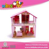 New Arrival small wooden toy house wooden doll house furniture