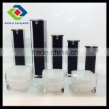 100ml White Square Plastic Airless Pump Bottle with Mini Branded OEM/ODM