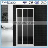 Jiaxing bathroom glass 3 panel sliding shower door