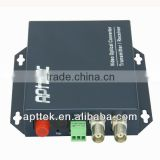 2-channel fiber optic Digital coaxial to video fiber converter audio video media transmitter receiver