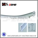 SC09 hot sale Russia PVC plastic flectional curtain rail