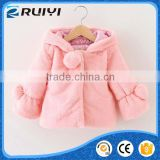 girls wholesale boutique kids clothes fancy man-made fur winter coat