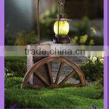 metal hanging lantern stand with led candle light