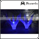 Hottest inflatable led wedding flowers, lighting decorative inflatable Christmas tree for sale