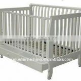 KX-02 High quality solid pine wood baby cot,baby bed for sale