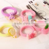 Candy color beautiful girl's elastic hair band/kids hair accessories /kids hair bands rubber band