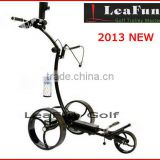 24V New Shape Light Weight Electric Golf Trolley With Lithium Battery High Torgue 24V Motor