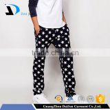 Daijun oem china factory balck and white blend star design cotton men in women's trousers