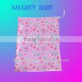 Wholesale waterproof cloth diaper wet bag one or two pocket travel diaper bag