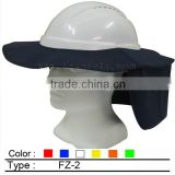 Safety Helmet hard hat brim with neck flap(Australia style)