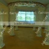Diamond fiber wedding mandap decoration with diamond and crystal fitted fiber pillars from India