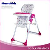 Multi-Color Plastic Kids/Child/Baby Dining HighChair/ High Chair with 5 Point Safety Harness