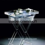 Manufacturing Frosted Perspex/Acrylic Folding Table