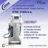 Skin Lifting E8B ND YAG LASER+IPL+RF+E Light 4 In 1/ IPL RF Laser Hair Removal Machine No Pain