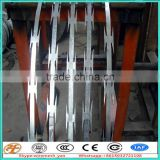 Single Razor Razor Type and Barbed Wire Mesh Type 450mm coil diameter concertina razor barbed wire