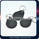 Blank colorful ABS em4001 rfid key tag with smart chip